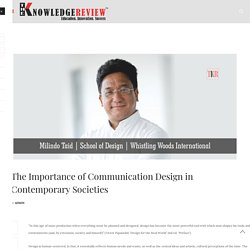 The Importance of Communication Design in Contemporary Societies
