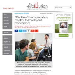 Effective Communication Central to Enrollment Conversions