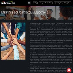 Internal and Corporate Communication Services - Timbre Media