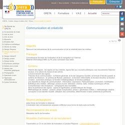 Communication et créativité - GRETA Création Design et Métiers d'Art