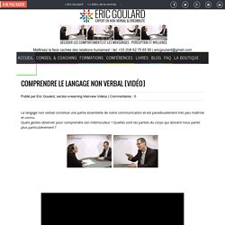VIDEO Comprendre le langage non verbal