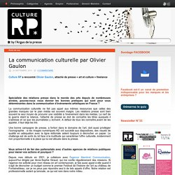 La communication culturelle par Olivier Gaulon
