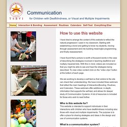 Home - Communication for Children with Deafblindness or Visual and Multiple Impairments - a TSBVI website