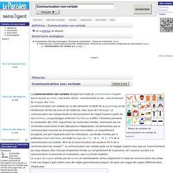 Communication non-verbale : définition de Communication non-verbale et synonymes de Communication non-verbale (français)