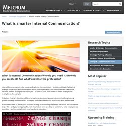 What is Internal Communication? Definition by Melcrum