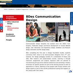 BDes Communication Design - Department of Design