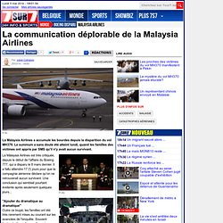 La communication déplorable de la Malaysia Airlines