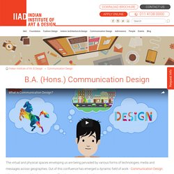 Communication Design Courses, visual design, IIAD