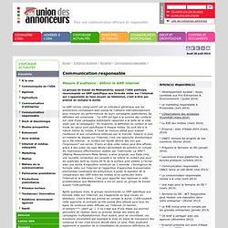 Communication & développement durable> Union des annonceurs