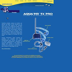 tubas radio AQUA FM et tuba musical, communication sous marine, nager en musique et ecouter sous l'eau (distribution : Aqua Sphere et Aqua Lung).