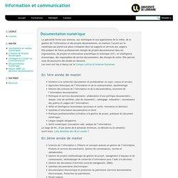 Information et communication » Documentation numérique