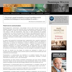 Théorie de la communication - Dominique WOLTON