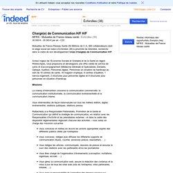 Emploi Chargé(e) de Communication H/F H/F - MFRS - Mutuelles de France réseau santé - Échirolles (38)