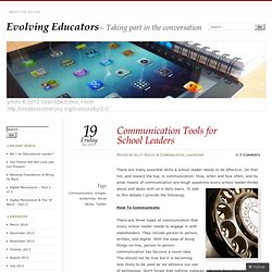 Communication Tools for School Leaders