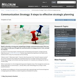 Communication Strategy: 9 steps to effective strategic planning