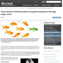 How Internal Communication can guide employees through major crisis