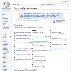 Category:Communication