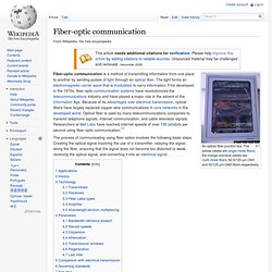 Fiber-optic communication