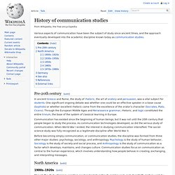 History of communication studies