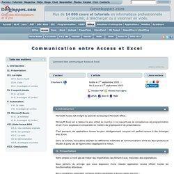 Communication entre Access et Excel