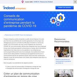 Conseils de communication d'entreprise pendant la pandémie de COVID-19