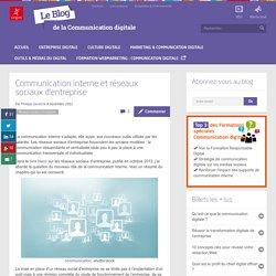 Communication interne et réseaux sociaux d'entreprise