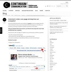 Créer page entreprise LinkedIn