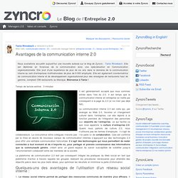Avantages de la communication interne 2.0 Zyncro Blog France