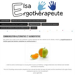 Communication Alternative et Augmentative - Elsa THEVENON Ergothérapeute