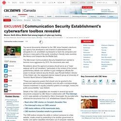 Communication Security Establishment's cyberwarfare toolbox revealed