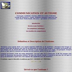 COMMUNICATION ET AUTISME