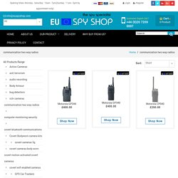 Motorola Two Way Radio Communication Devices - Euspyshop.com