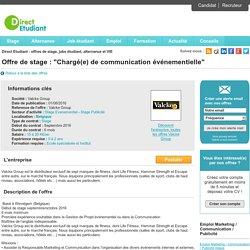 Chargé(e) de communication événementielle - Valcke Group