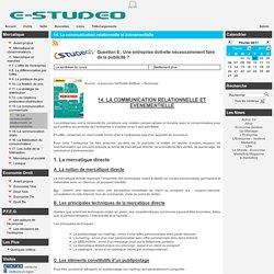 Studeo - 14. La communication relationnelle et événementielle
