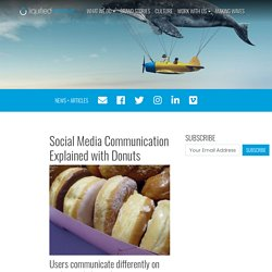 Social Media Communication Explained with Donuts