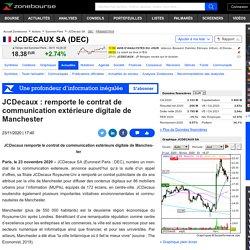 JCDecaux : remporte le contrat de communication extérieure digitale de Manchester