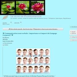 ♥ Communication non-verbale : importance et impact du Langage Corporel ? ♥ - Le blog de Flodharmonie