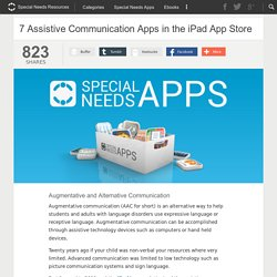 7 Assistive Communication Apps in the iPad App Store