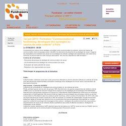 """1er juin 2015 - Formation """"Communication et fundraising, développer des synergies au service de votre collecte"""" à Paris"""