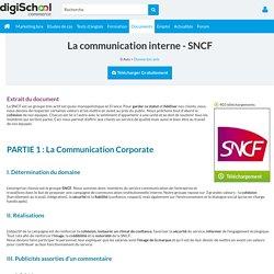 La communication interne - SNCF, exposé à télécharger gratuitement