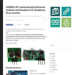 433Mhtz RF communication between Arduino and Raspberry Pi: Raspberry Pi as receiver