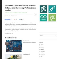 433Mhtz RF communication between Arduino and Raspberry Pi: Arduino as receiver