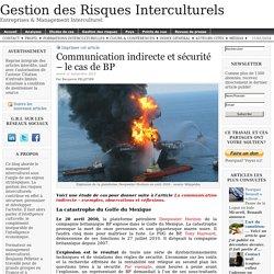 Communication indirecte et sécurité – le cas de BP