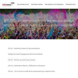 [ETUDE] La communication sur les réseaux sociaux sensibilise-t-elle le public aux causes humanitaires ? - Influence4You