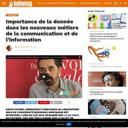 Importance de la donnée dans les nouveaux métiers de la communication et de l'information – Ludovia Magazine