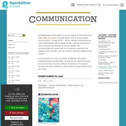 Communication - Information médias théories pratiques