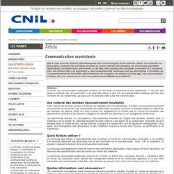 Communication municipale - CNIL - Commission nationale de l'informatique et des libertés