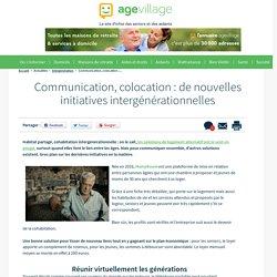 Communication, colocation : de nouvelles initiatives intergénérationnelles - 06/02/17
