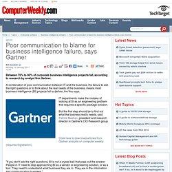 Poor communication to blame for business intelligence failure, says Gartner