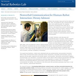 Nonverbal Communication for Human-Robot Interaction: Henny Admoni